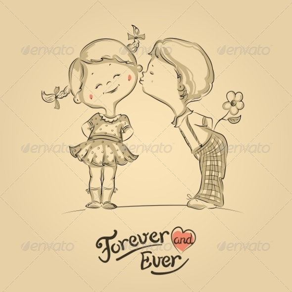 GraphicRiver Boy and Girl Kissing 7104759