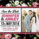 Shabby Chic Wedding Invitation Post Card Vol.3 - GraphicRiver Item for Sale