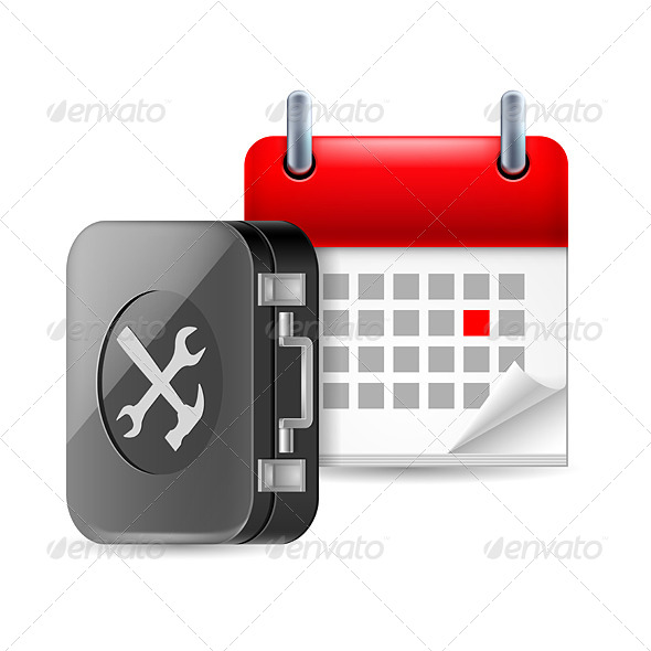 GraphicRiver Repair and Time Icon 7105245