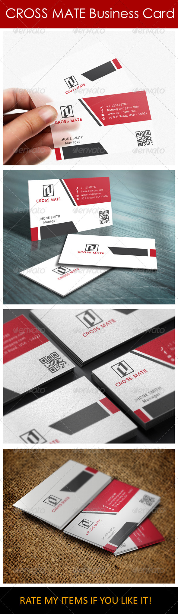 GraphicRiver Clean Simple Business Card 7105276
