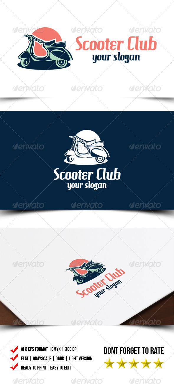 GraphicRiver Scooter Club Logo 7105339