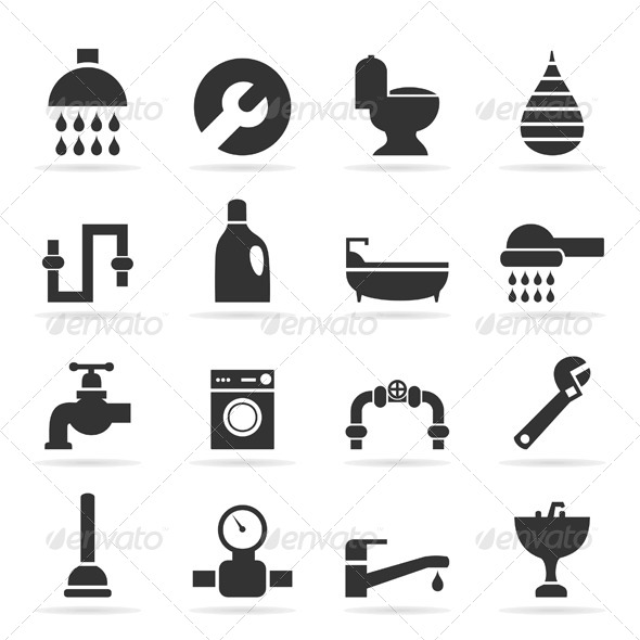 GraphicRiver Icons Sanitary Technicians 7105374