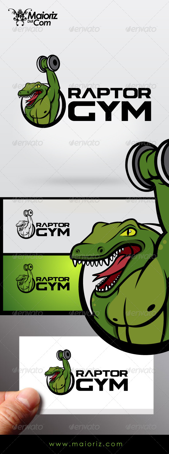 Raptor Gym Logo - Animals Logo Templates