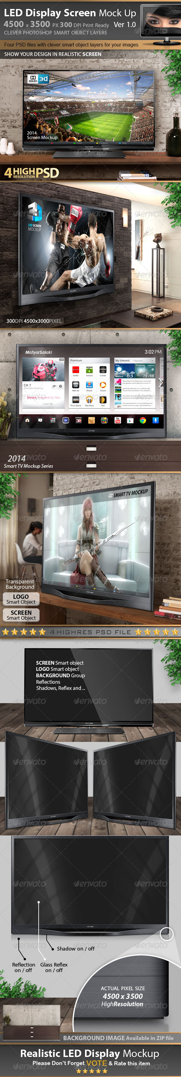 GraphicRiver Smart LED Display Screen Mockup V1 7105796