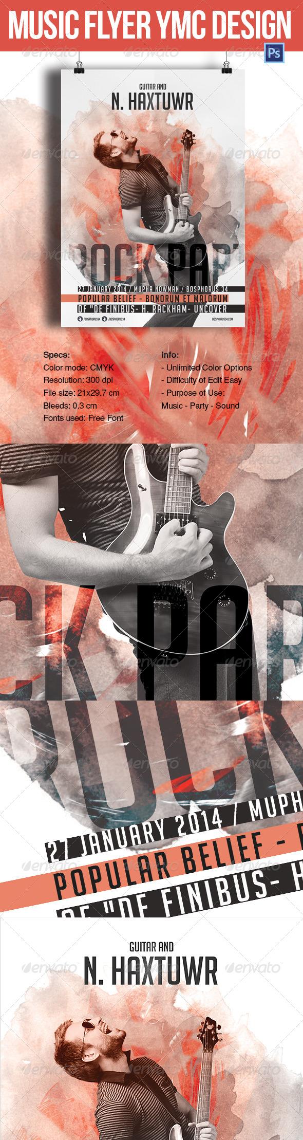 GraphicRiver Music Flyer YMC Design 7070481