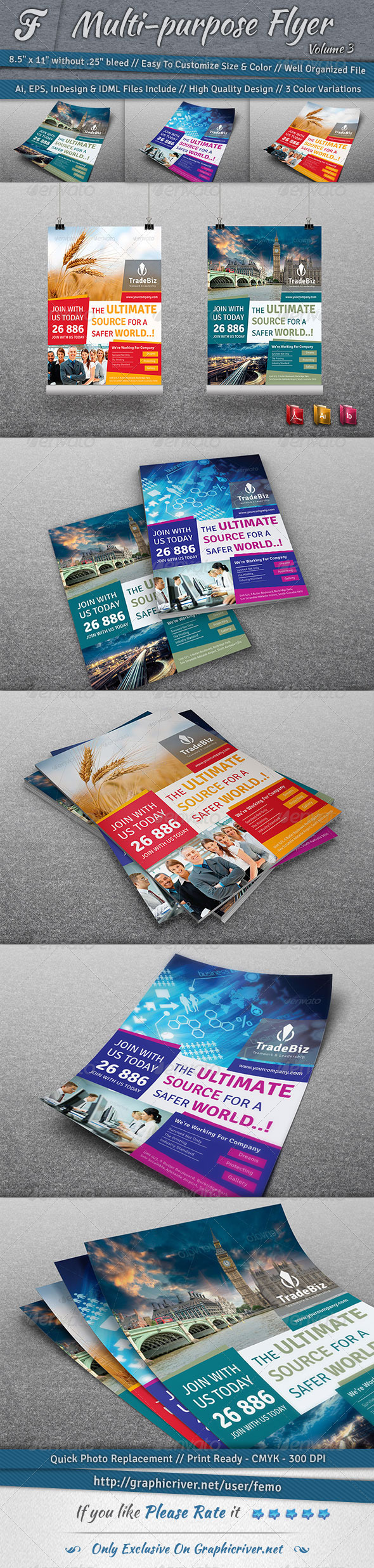 GraphicRiver Multi-purpose Flyer Volume 3 7106531