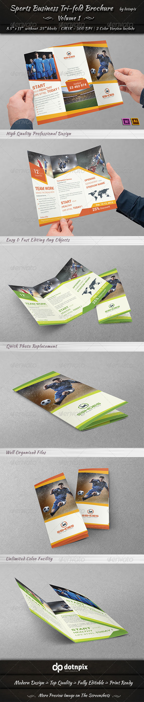 GraphicRiver Sports Business TriFold Brochure Volume 1 7108623