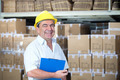 storekeeper at work in warehouse - PhotoDune Item for Sale
