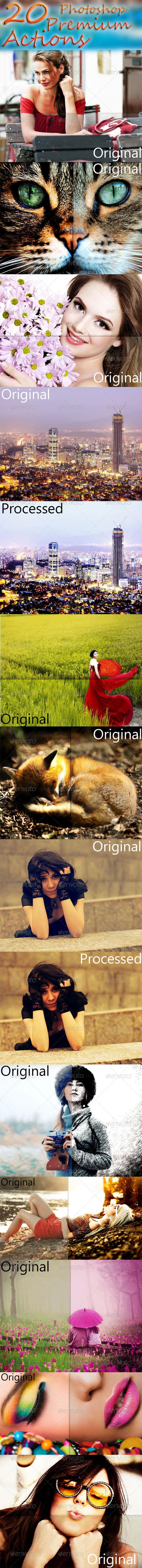 GraphicRiver 20 Premium Photoshop Actions 7091725