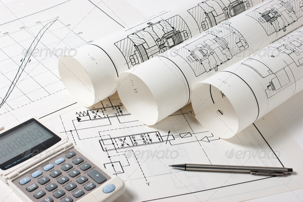 technical drawings - Stock Photo - Images