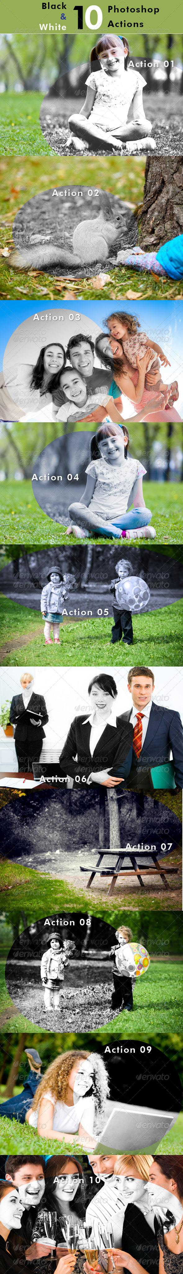 GraphicRiver 10 Black & White Photoshop Premium Actions 7111248