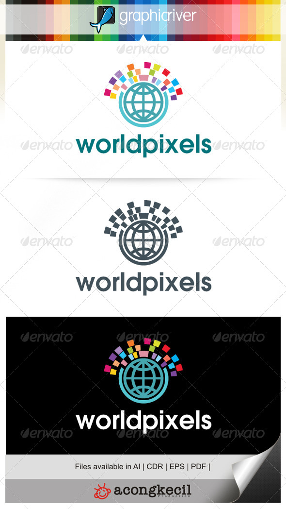 GraphicRiver World Pixels 7111261