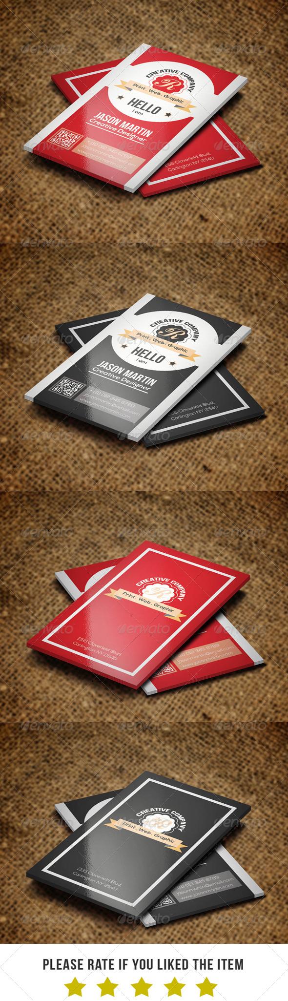 GraphicRiver Retro Business card BNA 001 7111285