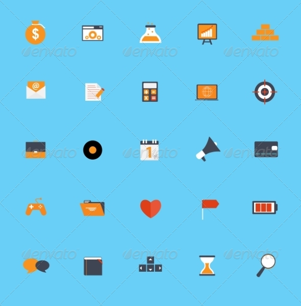 GraphicRiver Set of Flat Icons 7111321