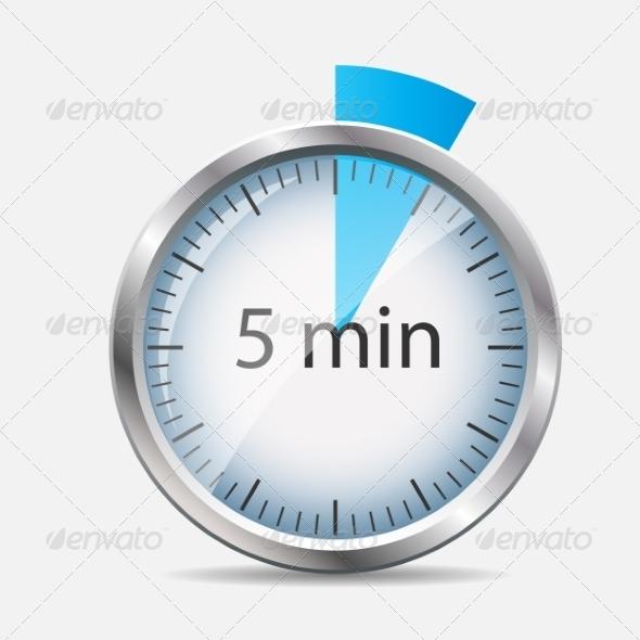 GraphicRiver Silver Watch Designation 5 Minutes 7111323