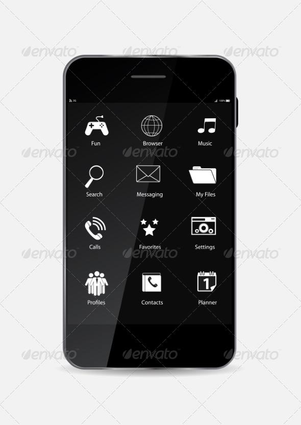GraphicRiver Black Mobile Phone 7111327