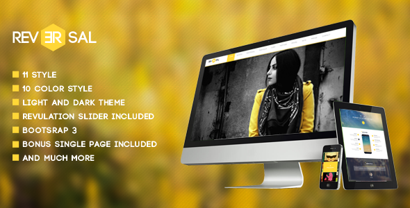 ThemeForest Reversal Parallax One Page Joomla Template 7111371