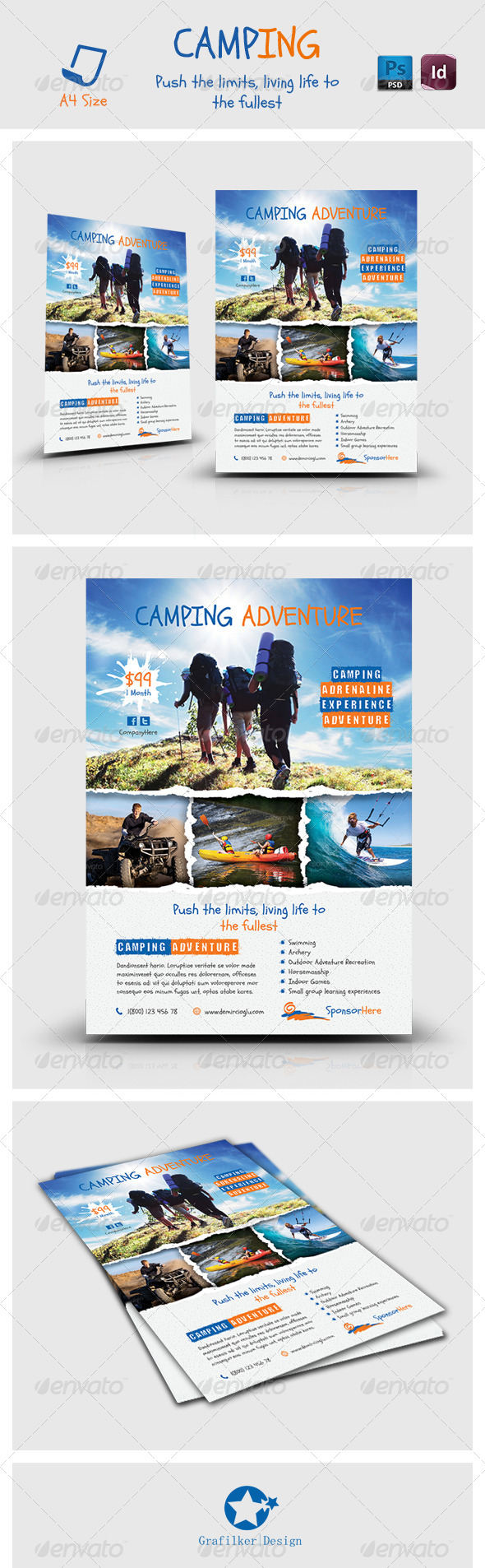 Camping Adventure Flyer Templates