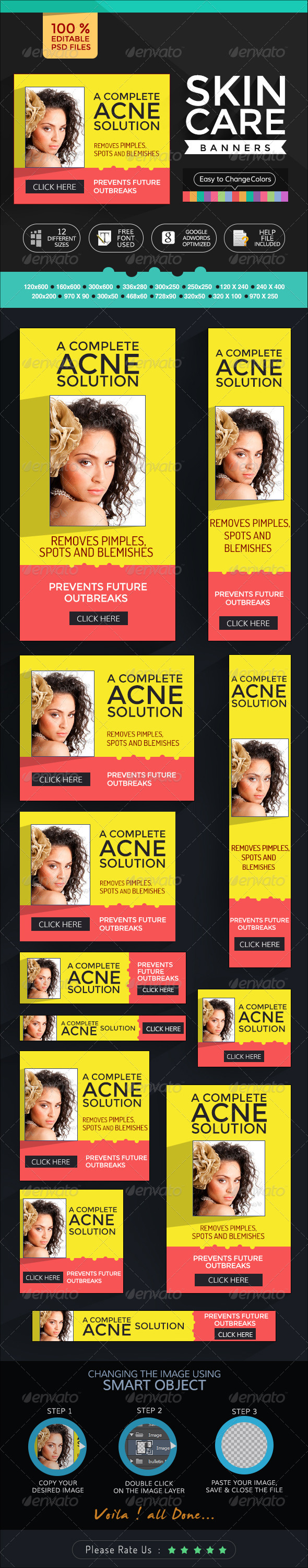 GraphicRiver Banners for Skin Care Products 7111516