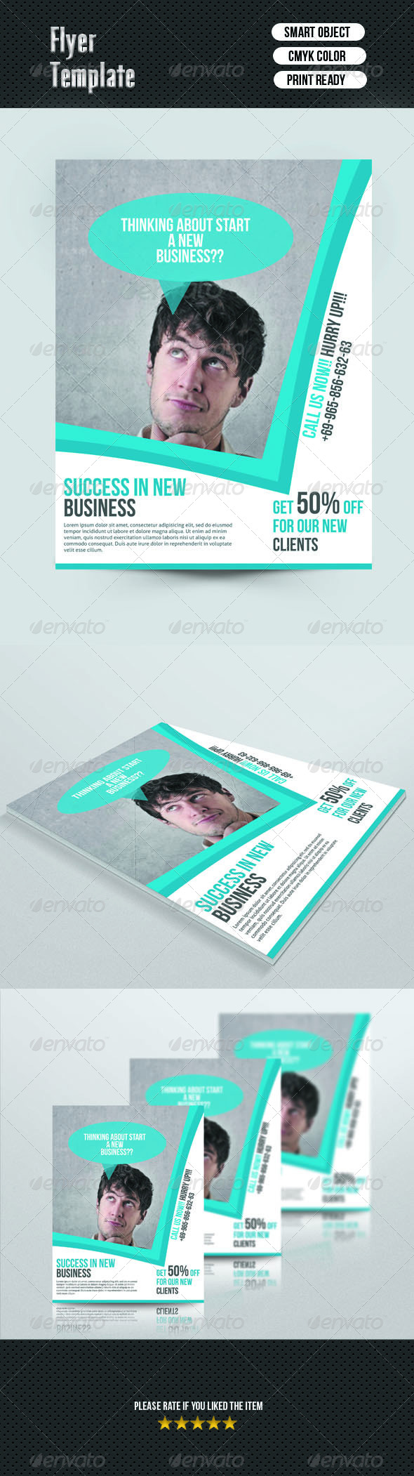GraphicRiver Corporate Flyer Template 7111998