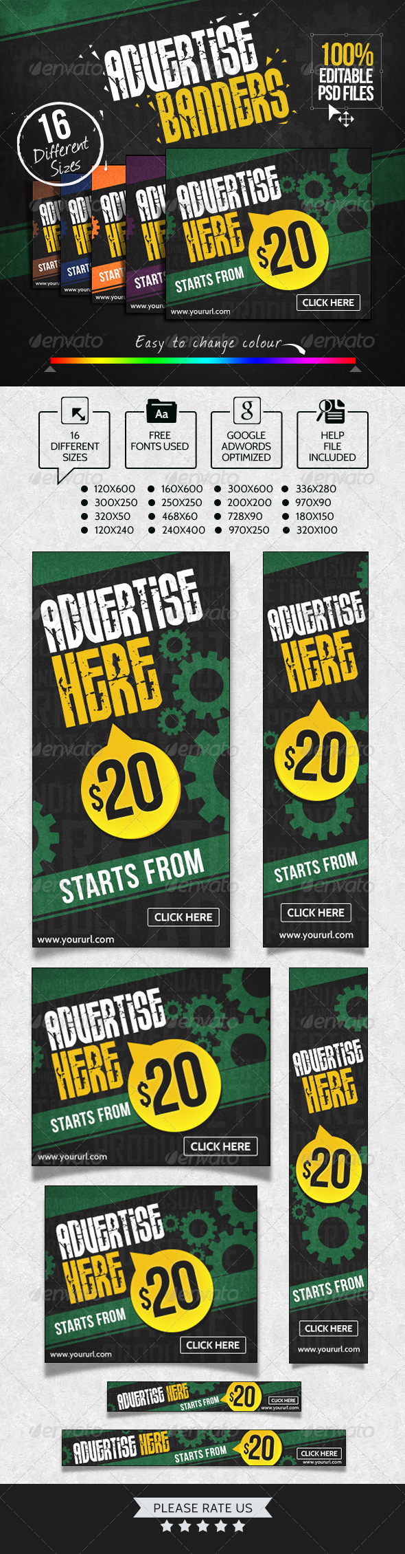 GraphicRiver Advertise Here Banner Set 7112002