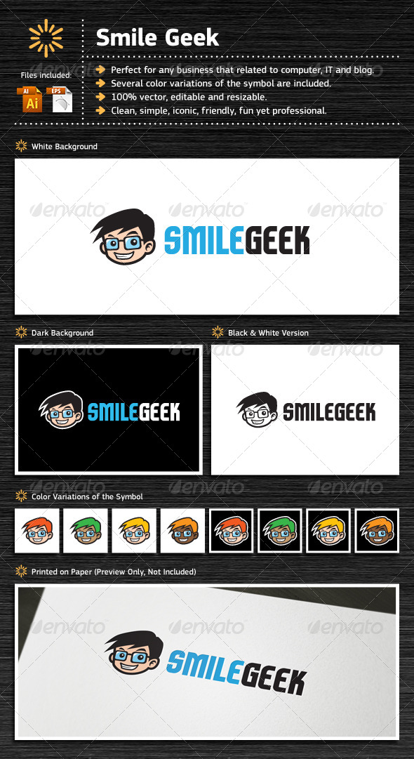 GraphicRiver Smile Geek 7112098