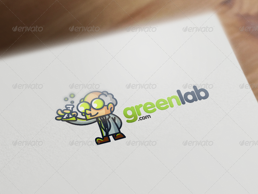 Professor / Scientist Mascot Logo