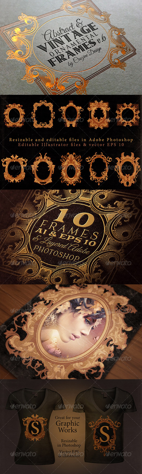 GraphicRiver 10 Frames Vol.6 Victorian Ornament 7112503