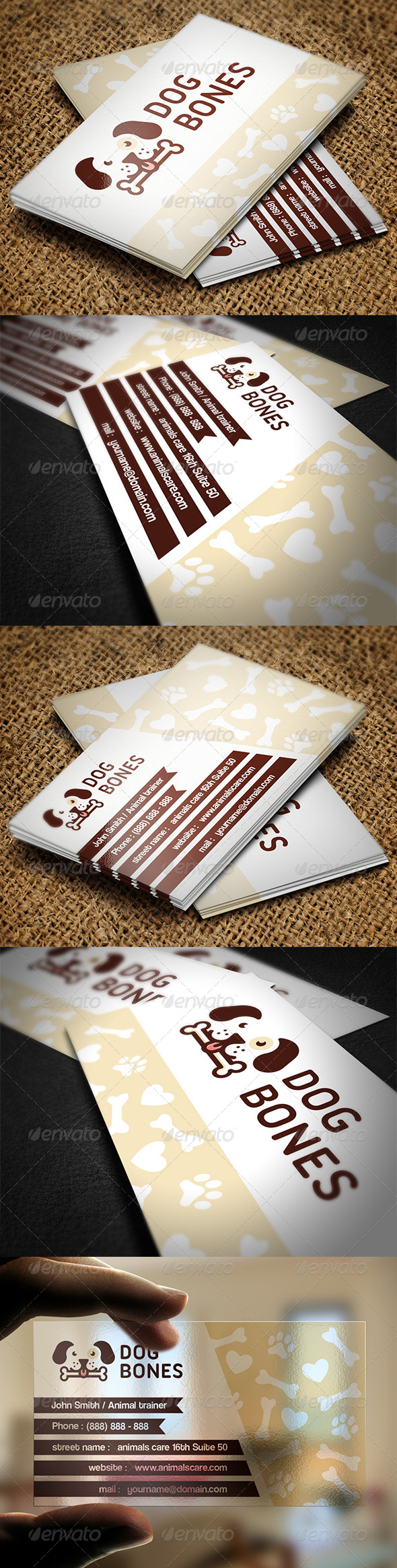 GraphicRiver Animal Care Business Card 7112843