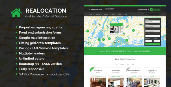 ThemeForest Realocation Modern Real Estate Template 7112897