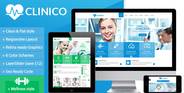 ThemeForest Clinico Responsive Medical and Health Template 7112924