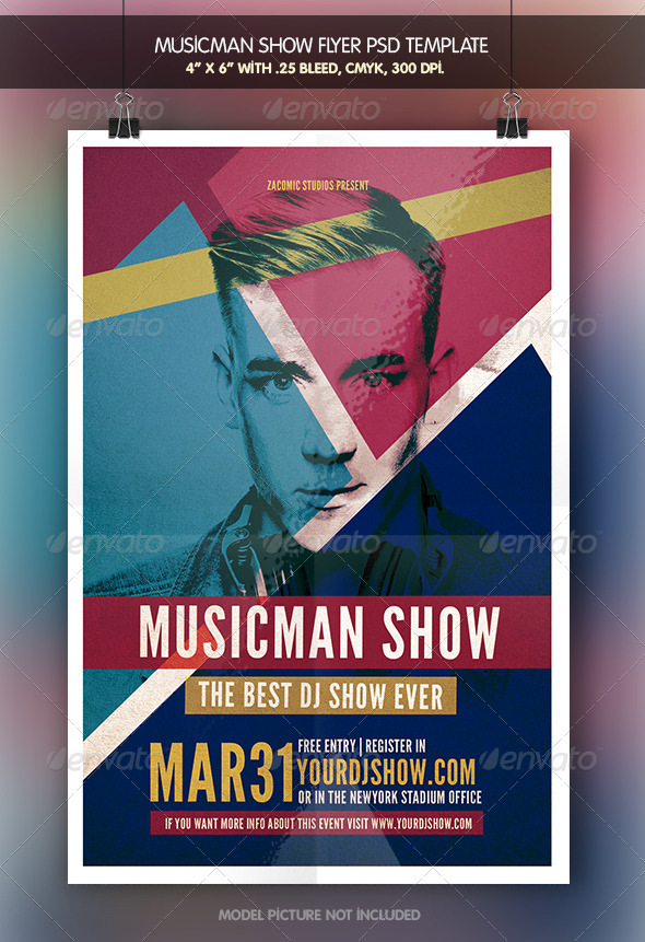GraphicRiver Musicman Show Flyer Template 7112979