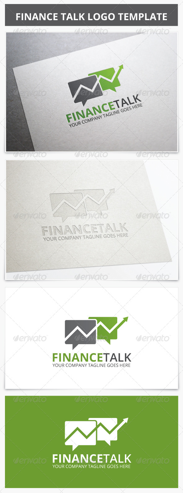 GraphicRiver Finance Talk Logo 7112981