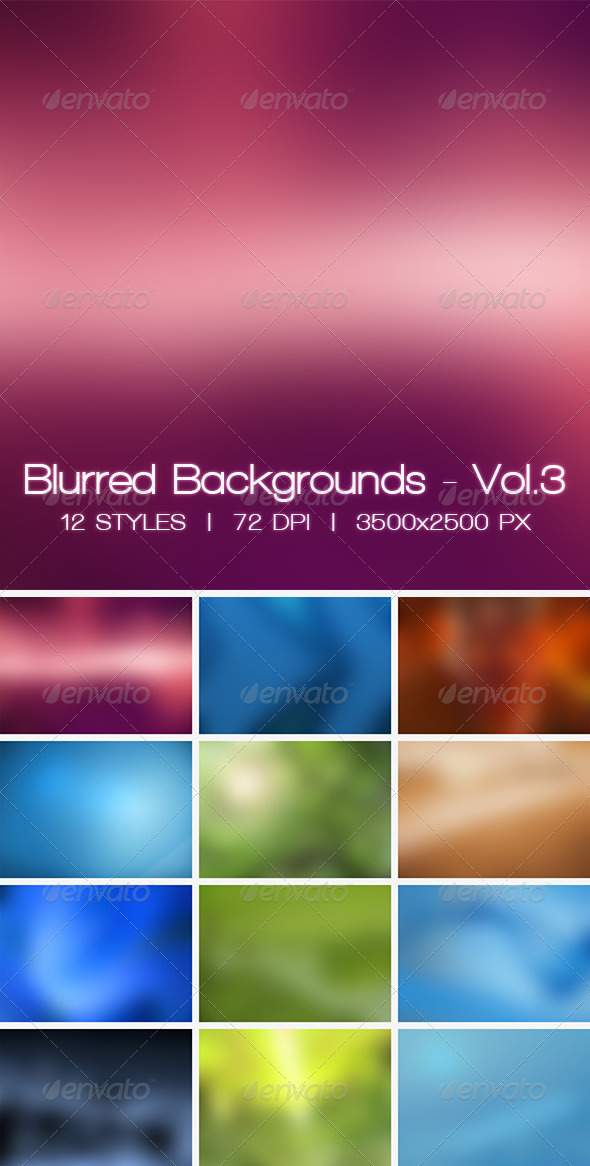 GraphicRiver Blur Vol.3 12 Blurred HD Backgrounds 7113025
