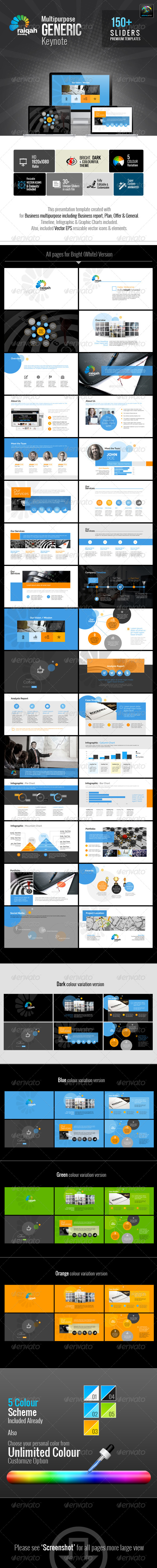 GraphicRiver Raiqah Multipurpose Generic Keynote 7113119