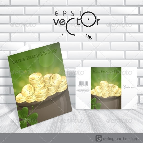 GraphicRiver St Patrick s Day Pot of Gold 7113172