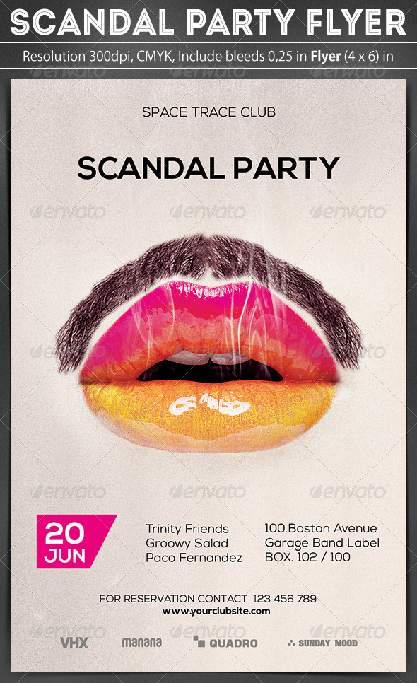 GraphicRiver Scandal Party Flyer 7113187