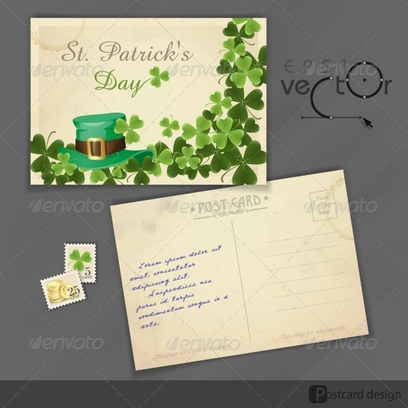 GraphicRiver St Patrick s Day Background With Leprechaun Hat 7113193