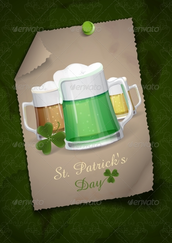 GraphicRiver Mug Of Green Beer For St Patrick s Day 7113203