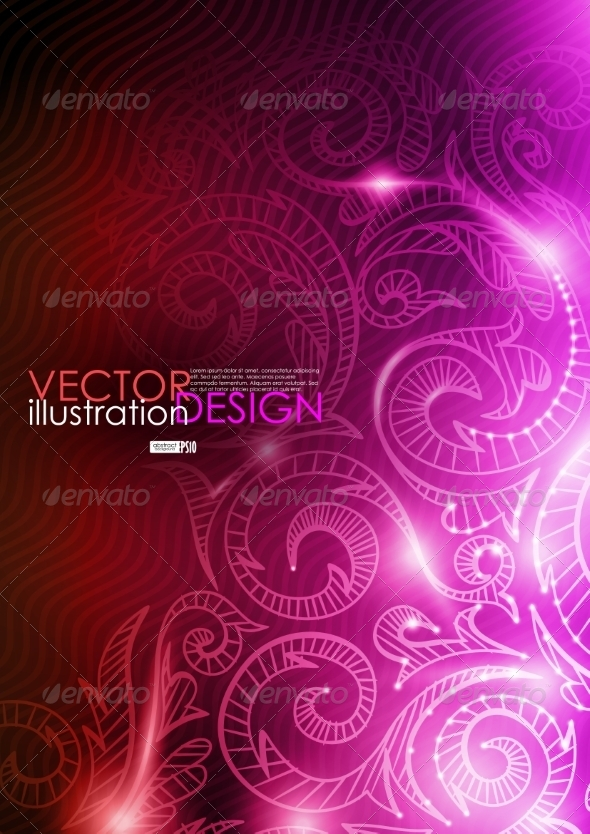 GraphicRiver Neon Pattern Background 7113211