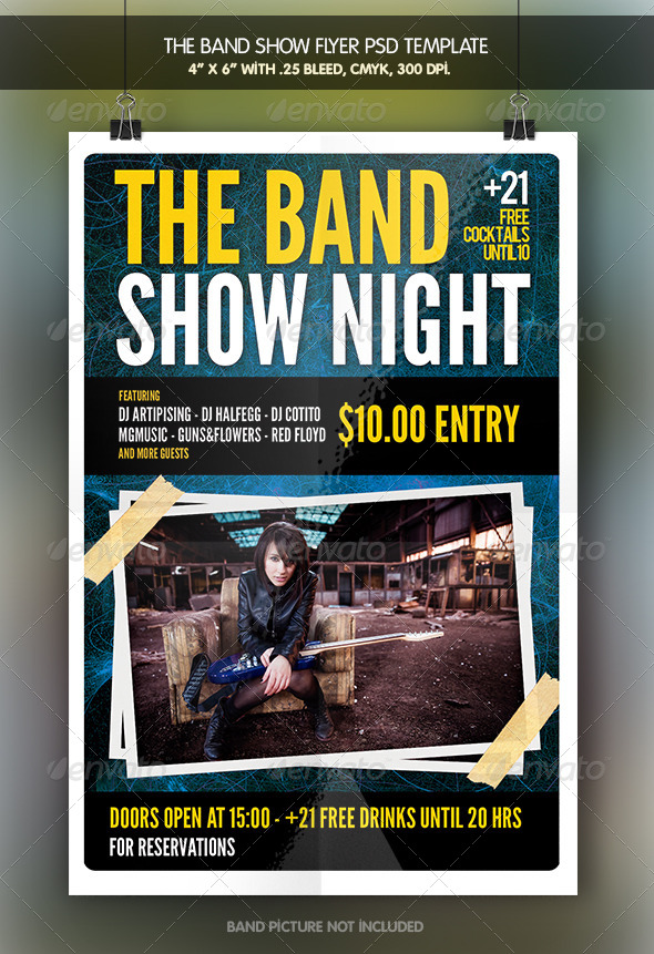 GraphicRiver The Band Show Flyer Template 7113222