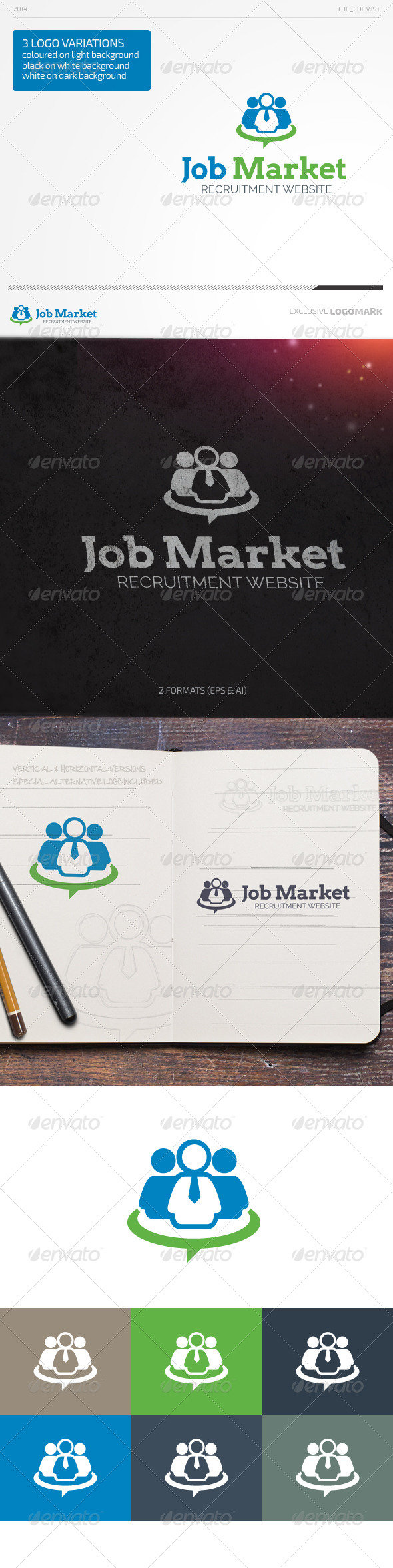 GraphicRiver Job Market Logo 7091916