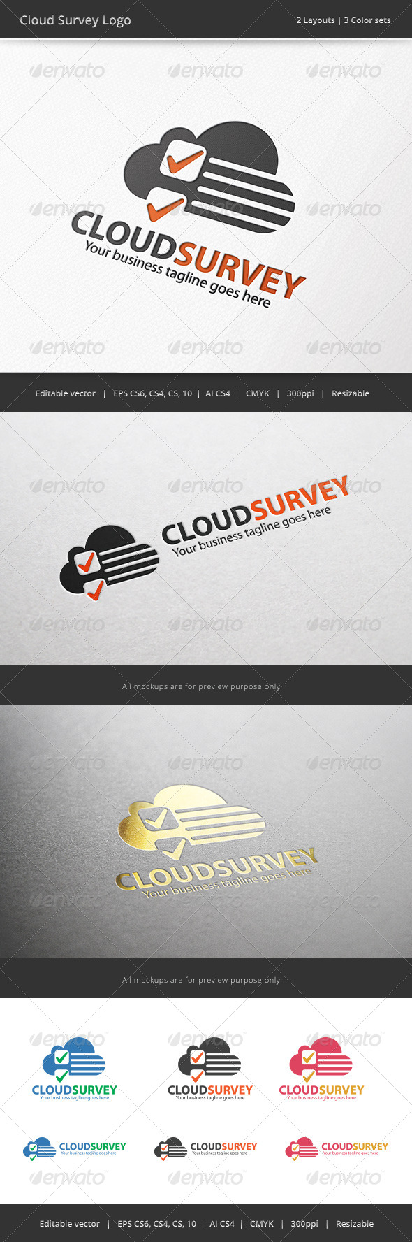 GraphicRiver Cloud Survey Logo 7113357