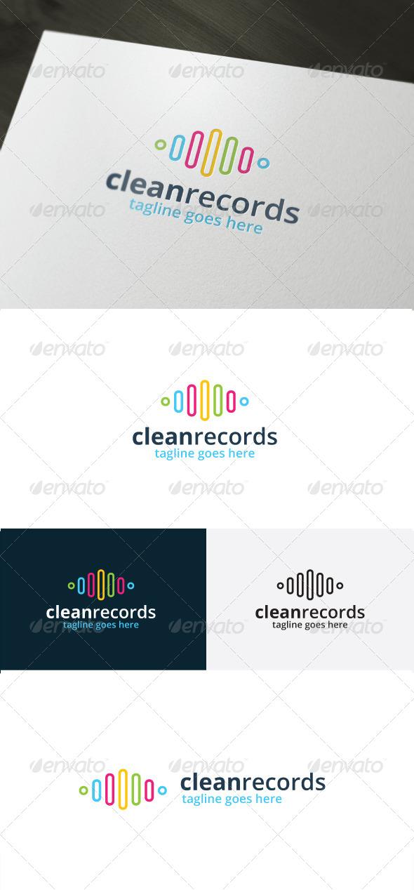 GraphicRiver Clean Records Logo 7113465