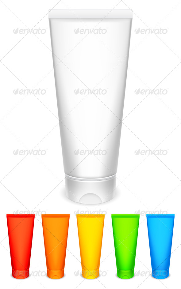 GraphicRiver Color Tubes of Cream 7113634