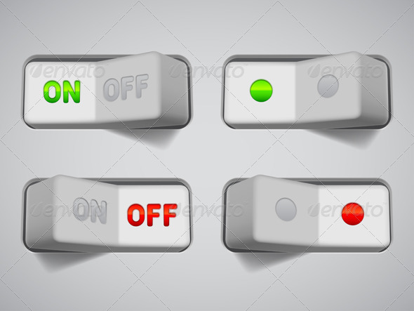GraphicRiver On and Off Switches 7113642
