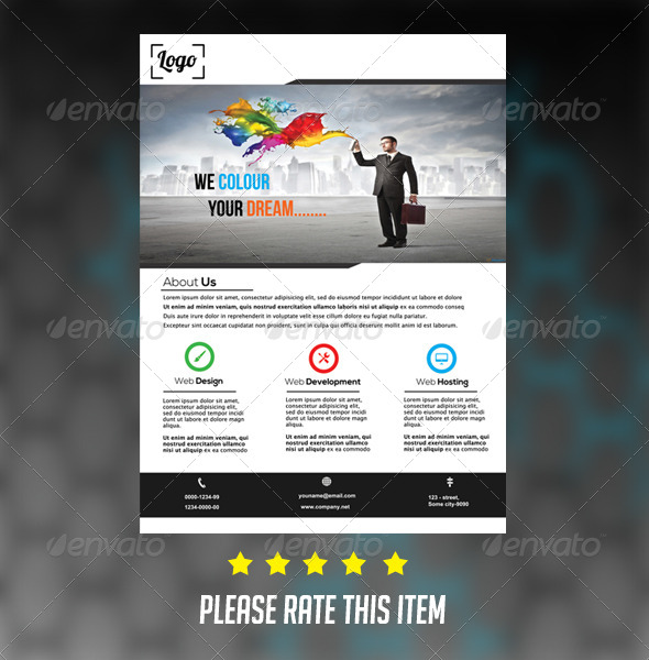 GraphicRiver Simple Corporate Flyer 7087109