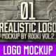 Realistic Logo mockup Vol.2 - GraphicRiver Item for Sale