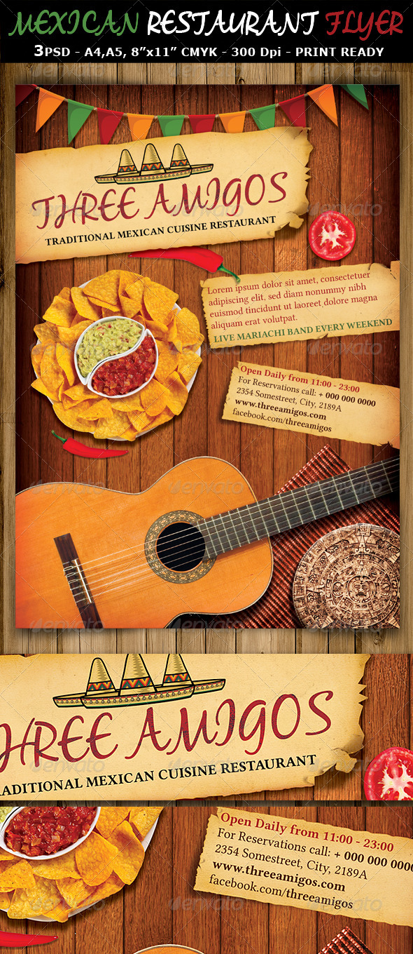 GraphicRiver Mexican Restaurant Ad Flyer Template 7114005
