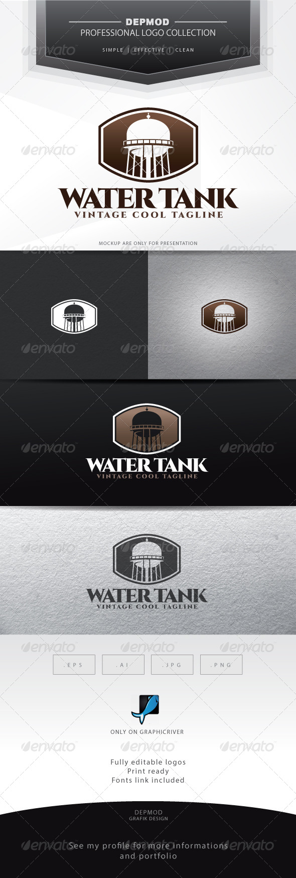GraphicRiver Water Tank Logo 7114057